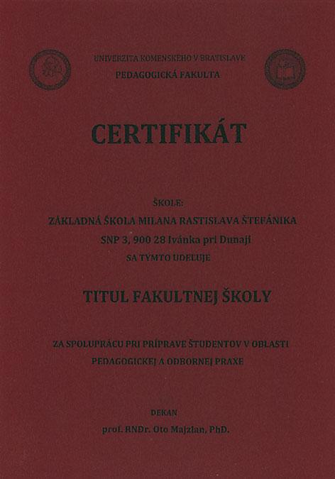 Titul Fakultnej školy Pedagogickej fakulty UK