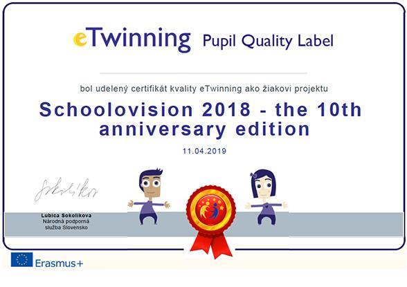 Schoolovision 2018